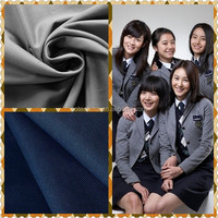 "T/R 65/35 32/2*32/2 99*52 2/2 57/58"" twill fabric- 2015 Best material TR school uniform fabric textile"