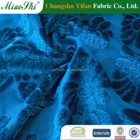100% poly knitting fabric high velour with P/D jacquard for garment