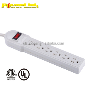 S10246 6 OUTLET SURGE PROTECTOR POWER STRIP WITH SAFETY CIRCUIT BREAKER 18 INCH CORD