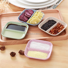 Creative Home Colored Plate Dessert Plate Flavored Dish Japanese Tableware Plastic Tray