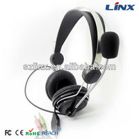 Plastic Mould Headphone With Steel Ring Headband