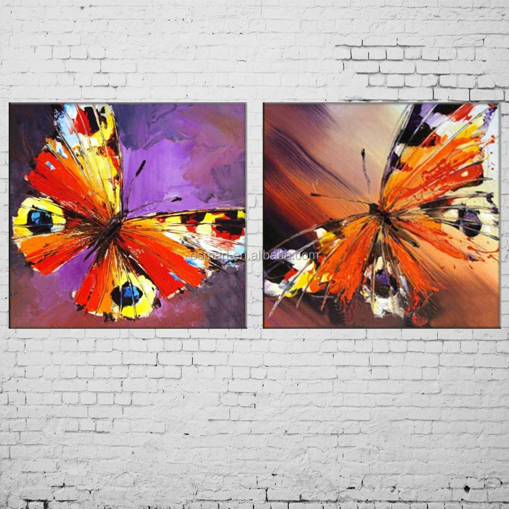 Abstract wall art painting - Dafen Handmade Abstract Wall Art Painting Butterfly Picture Hang Oil Paintings Buy Abstract Wall Art Abstract Wall Art Painting Animals Paintings Product
