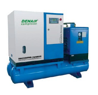 15kw portable Screw air compressor with air dryer for food mixing