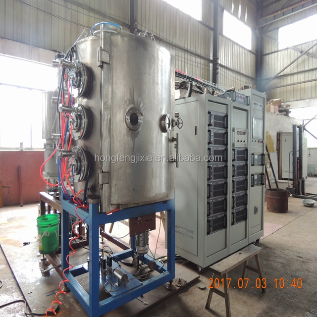 Cathodic arc PVD coating machine for jewelry gold - Ion plating equipment - Metal deposition oven