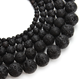 10mm round black lava rock stone beads strand
