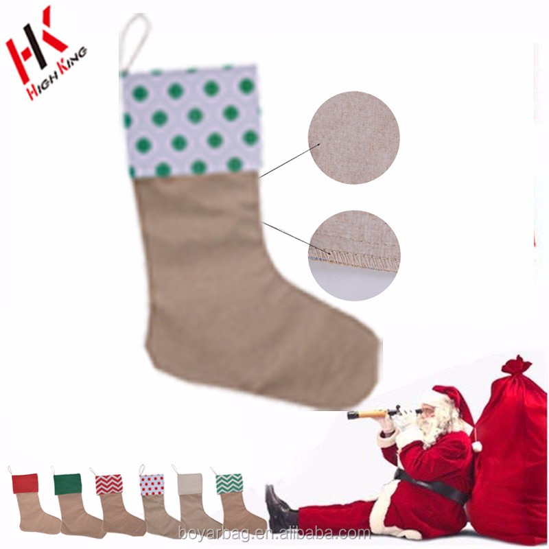 2017 new design fashionable cotton gift Christmas sock decoration
