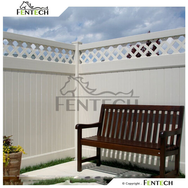 Hot Sale High Standard Made in China Fentech Elegant PVC Lattice Fence Trellis
