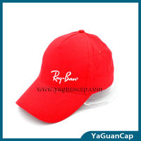 China Cap Manufacturer: 100% Cotton Red Blank Baseball Cap For Sports