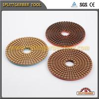 All stone use 3 step wet diamond flexible backer granite polishing pads