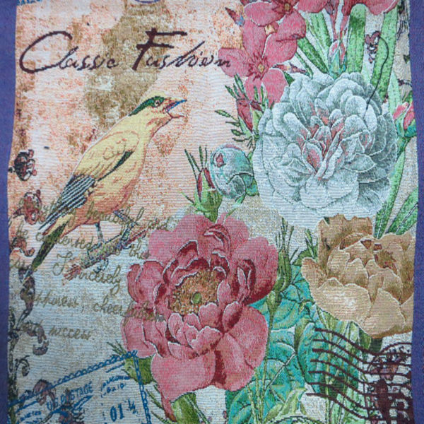 Jacquard islamic bird and flower design tapestry wall fabirc