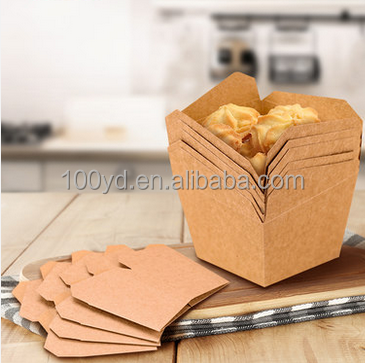 Food Grade Brown Craft Paper Bakery Cupcake Box