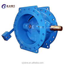 Wafer Type electric magnetic butterfly valve with rubber lining