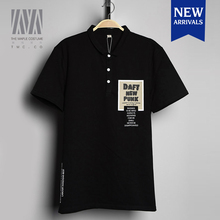 Fashion urban leisure black cotton short sleeved custom golf polo sports shirts