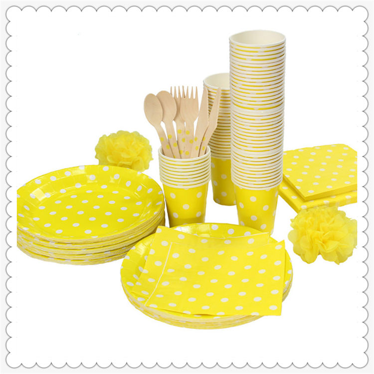 Wholesale polka dot theme party decorations birthday set