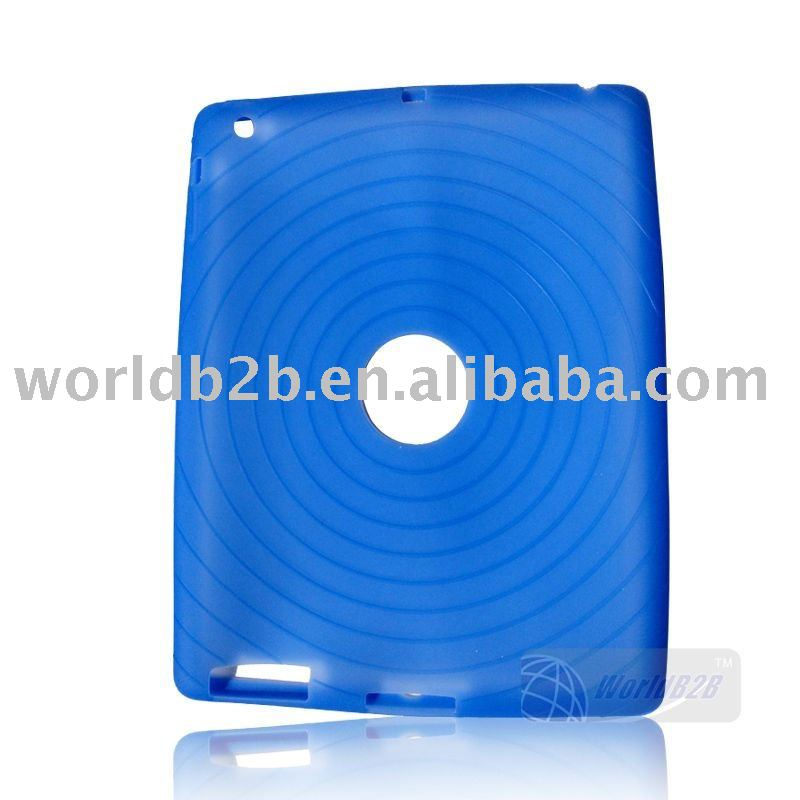 Silicon Case Skin Cover for iPad 3/ipad 2 ,Back with circle skidproof veins