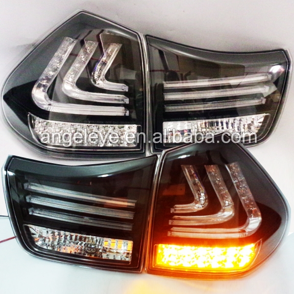 For Lexus RX330 RX350 Herrier 2004-2009 Year LED Strip Rear Lights Clear lens Black Bottom SN