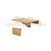 Bamboo Wall Mounted Drop Leaf Table