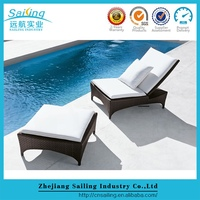 Sailing Modern Style Bali Rattan Round Outdoor Commercial Lounge Furniture