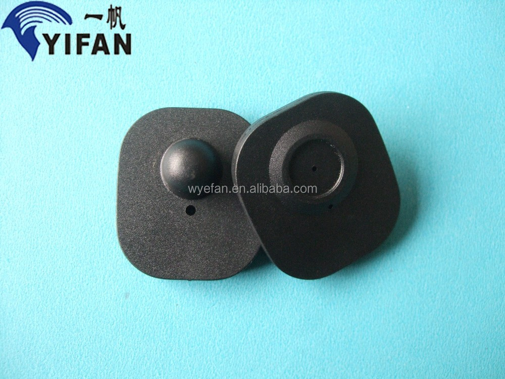 retai security ABS material 8.2mhz eas hard tag/eas mini square tag
