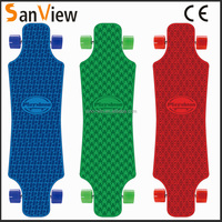 2015 new plastic longboard high quality plastic skateboard new skateboard