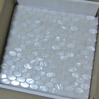 Chinese freshwater mother of pearl Shell mosaic tiles oval pattern