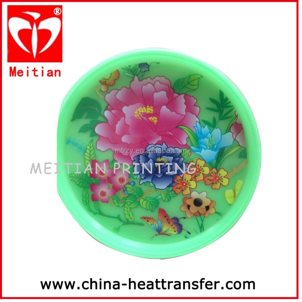 In mould label (IML) with flower /cartoon design fro plastic plate /bottle