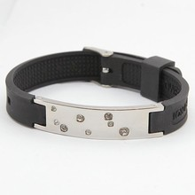 New Design Silicone Magnetic Power Bracelet Jewelry