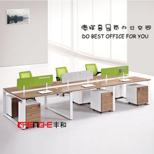 hot selling linear computer workstation desk, office workstation for 6 person