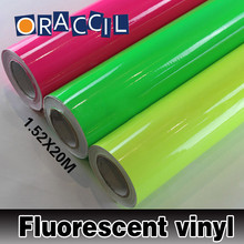 1.52X20m Car Wrapping Sticker Neon Fluorescent Vinyl Film