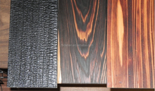 Engineered pine wood flooring in burnt barnboard/barnwood