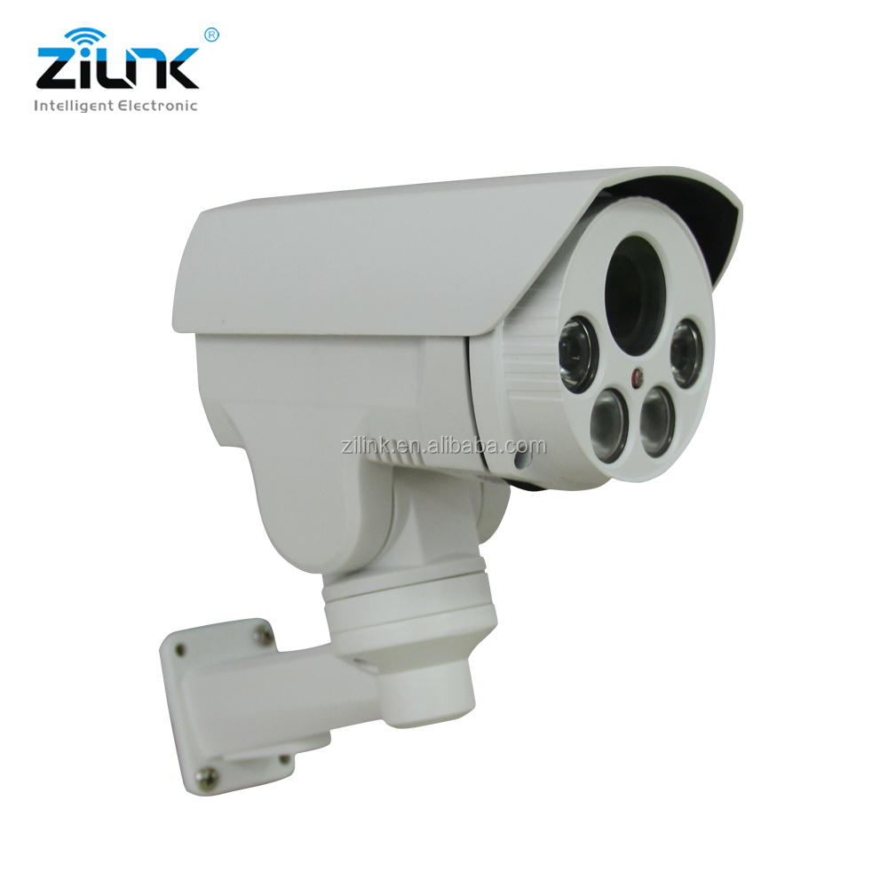 2MP small pan tilt zoom Bullet IP camera with 5x optical zoom cctv security