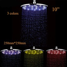 10-inch LED Changing Color Rainfall Shower Over head Shower for Bathroom
