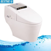 2018 new design high grade automatic flush wc smart seat bathroom toilet