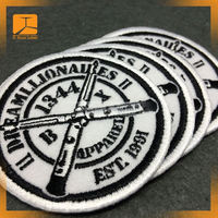 Cheap price 3d embroidery car logo patch for blouses 2015
