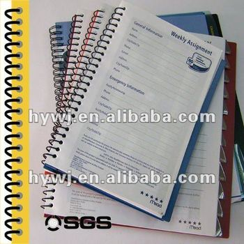 single ring binder made by nylon coated metal wire