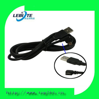 Right-Angle USB A to mini b 5-pin Charger Data Cable