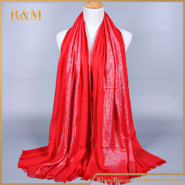 New fashion indian cotton scarf with tassel