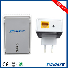 XINJIAYE PLC 500 Mbps Powerline Adapter for Power, Ethernet, Data, WIFI AV Mini Ethernet Bridge/Bridged HomePlug Twin Pack