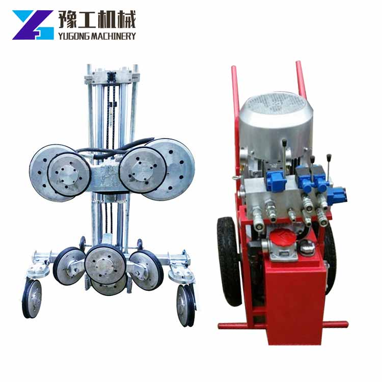 YG portable hydraulic reinforced concrete rcc cutting machine diamond wire saw for bridge crash barrier cutting