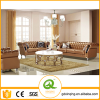 EF-008 2015 Xinqing Living Room Sofa Furniture Cheap Chesterfield Sofa