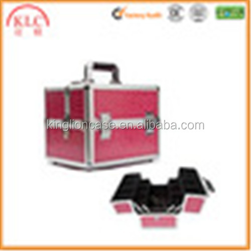 pink ABS aluminum cosmetic case make-up case for women