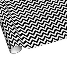 Classic Black and White Wrapping Paper Supplier