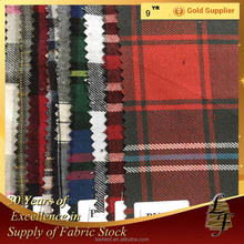 china supplier yarn dyed cotton flannel check stock lot fabric for men's shirt