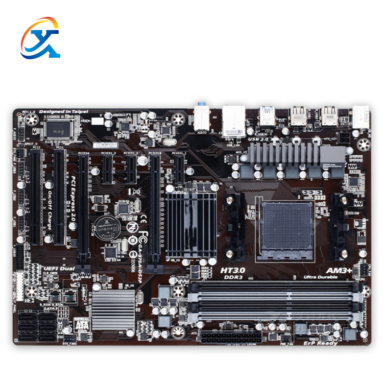 Hight Quality For Gigabyte GA-970A-DS3P Desktop Motherboard 970A-DS3P 970 Socket AM3 DDR3 ATX 100% Fully Test