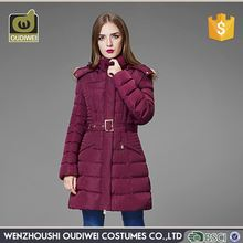 Top selling OEM design fast delivery long dark red new fashion ladies coat