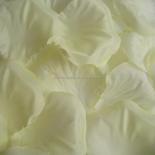 White rose flower petals decoration