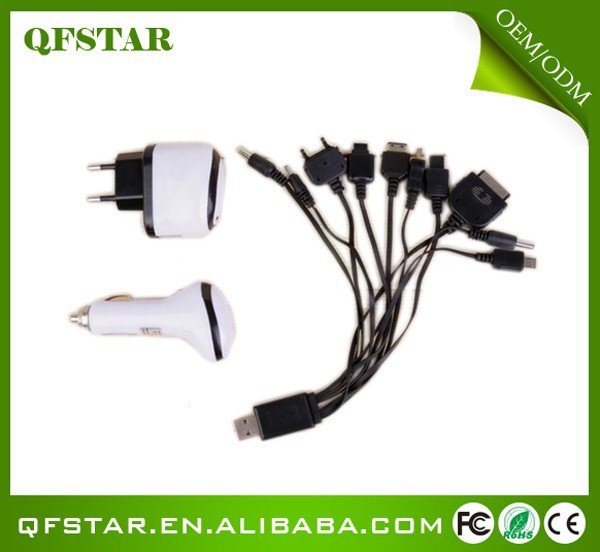 hot sell travel car charger and usb cable of mobile phone accessories factory in china