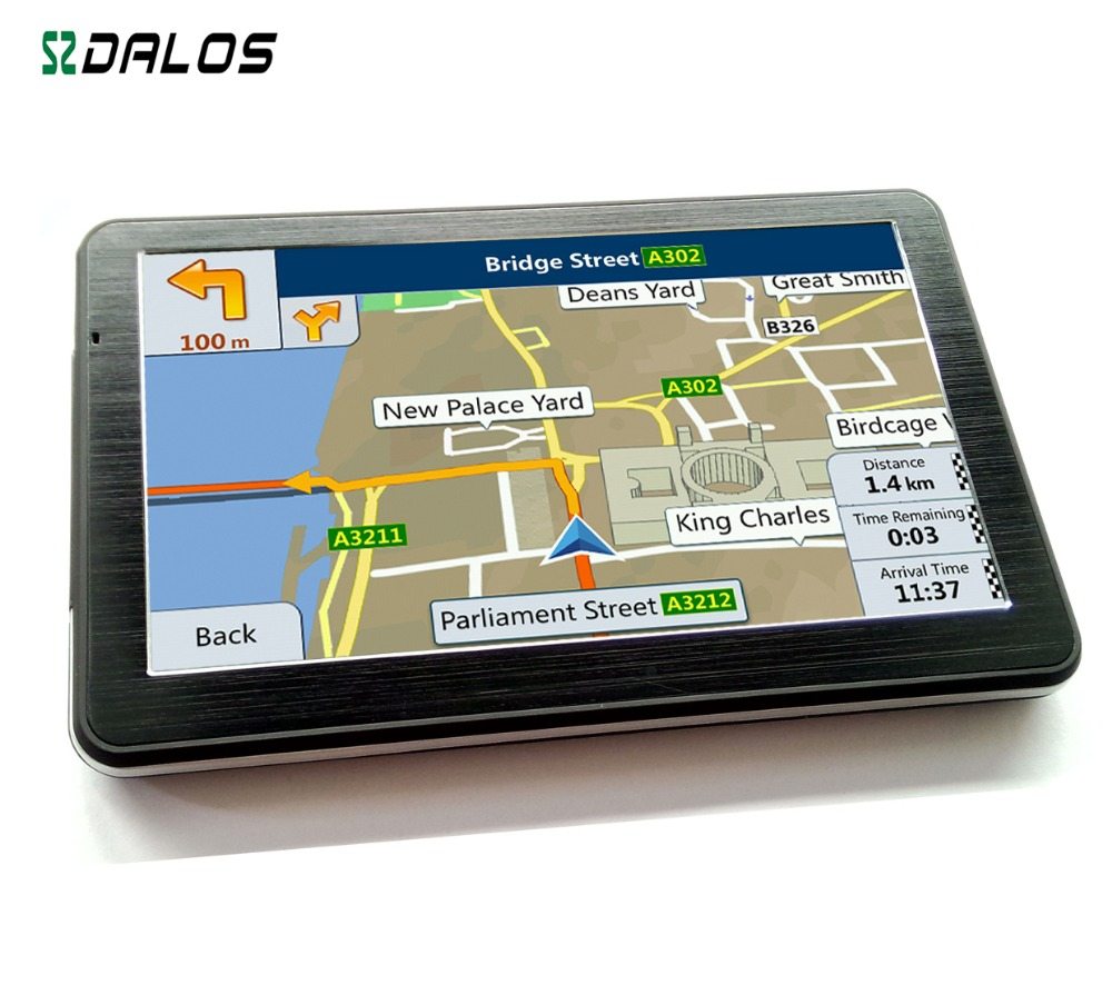 GPS Navigation software with FM AV-IN Bluetooth for Car 7 inch