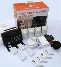 Newest!GSM Alarm Smart Home Wireless GSM LCD display keypad Alarm System with strobe light siren G50B