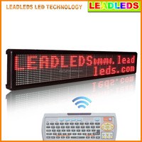 Single Red Color Two Lines Running Text Indoor Scrolling LED Display with Keyboard